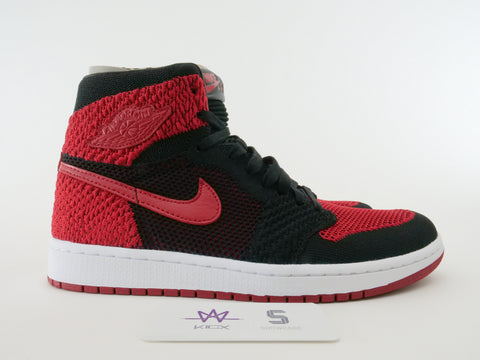 "AIR JORDAN 1 RETRO HIGH FLYKNIT ""BRED"" - Sz 9"