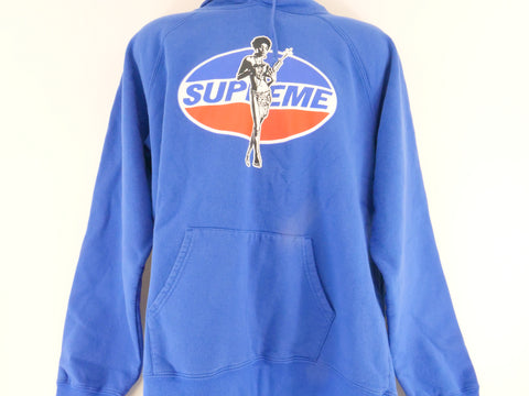 "SUPREME HYSTERIC GLAMOUR HOODED SWEATSHIRT ""BLUE"" - Sz XL"