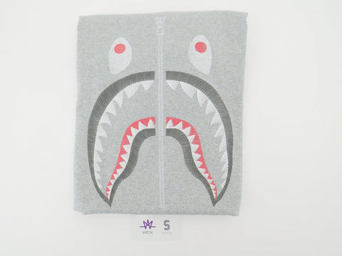 "BAPE SHARK EMBROIDERY TEE ""GREY"" - Sz XL"