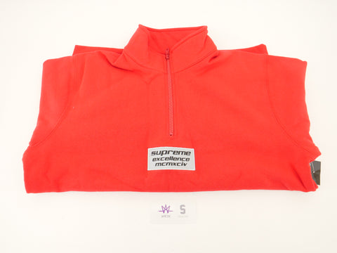 SUPREME HALF ZIP SWEAT - Sz Medium