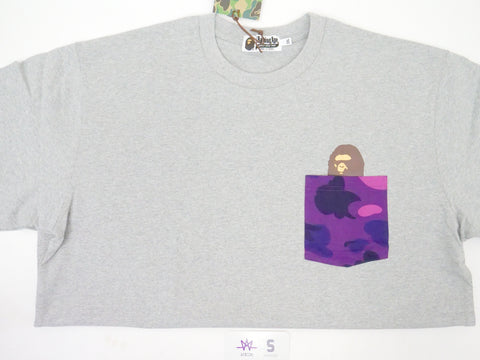 "BAPE POCKET TEE ""PURPLE CAMO"" - Sz 2XL"