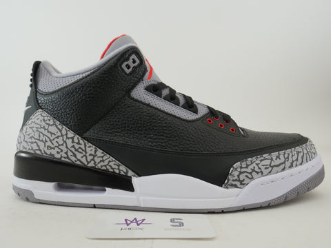 "AIR JORDAN 3 RETRO OG ""BLACK CEMENT"" 2018 - Sz 17"
