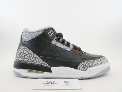 "AIR JORDAN 3 RETRO OG BG ""BLACK CEMENT"" 2018 - Sz 4.5y"