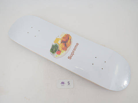 SUPREME CHICKEN DINNER SKATEBOARD DECK - WHITE - Sz OS