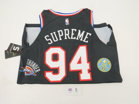hot sale online c1824 bcad8 SUPREME NBA JERSEY BLACK - Sz LARGE