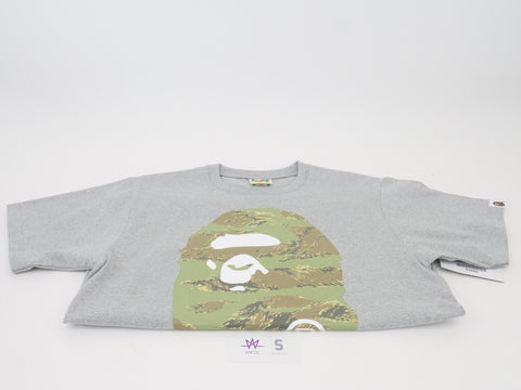 "BAPE APE HEAD TEE ""TIGER CAMO/GREY"" - Sz M"