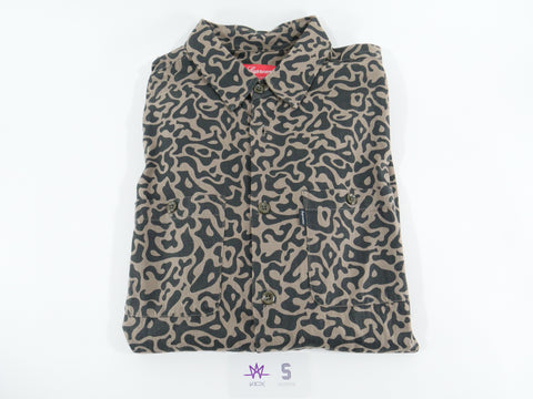 SUPREME LEOPARD BUTTON UP LONG SLEEVE - Sz MEDIUM