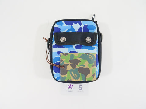 "BAPE SHOULDER POUCH ""ABC BLUE CAMO"" - Sz O/S"