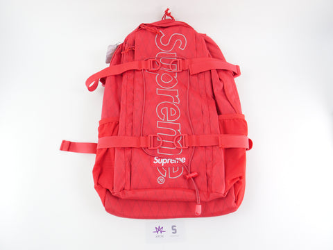 "SUPREME BACKPACK ""RED"" FW18 - Sz O/S"