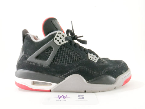 AIR JORDA 4 RETRO BLACK CEMENT (2012) - Sz 7.5