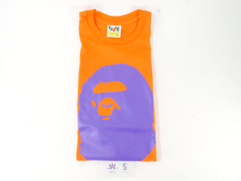 832d18e1 BAPE APE HEAD PURPLE TEE