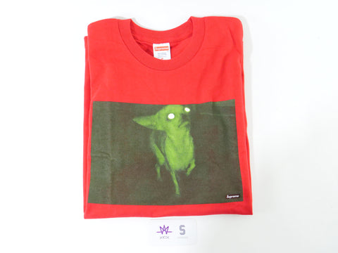 "SUPREME CHRIS CUNNINGHAM CHIHUAHUA TEE ""RED"" - Sz MEDIUM"