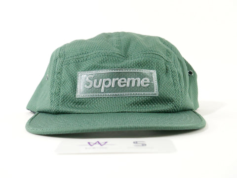 "SUPREME NYLON PIQUE CAMP CAP ""DARK GREEN"" - Sz O/S"