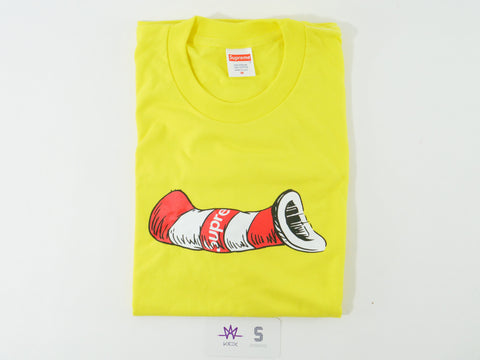 "SUPREME CAT IN THE HAT TEE ""YELLOW"" - Sz MEDIUM"