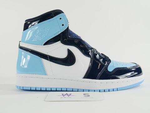 "WMNS AIR JORDAN 1 HIGH OG ""UNC PATENT LEATHER"" - Sz 8W/6.5M"