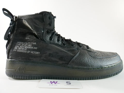 "AIR FORCE 1 SFB ""BLACK' - Sz 17"