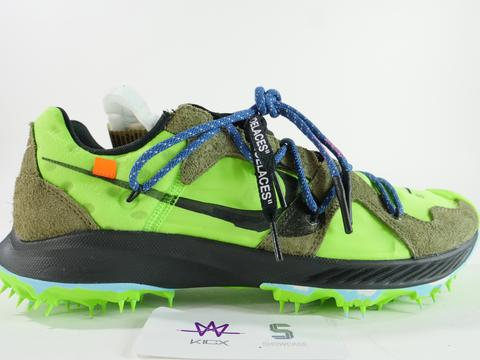 "NIKE ZOOM TERRA KIGER OFF WHITE ""ELECTRIC GREEN"" - Sz 8.5"