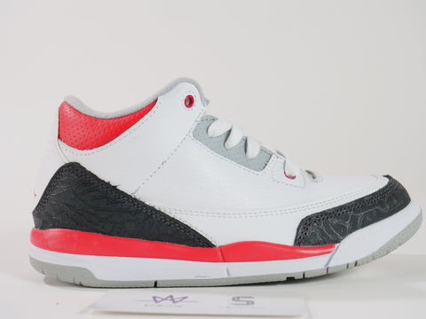 "JORDAN 3 RETRO (PS) ""FIRE RED"" - Sz 13.5c"