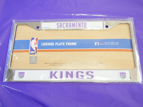 SACRAMENTO KINGS LICENSE PLATE FRAME - Sz O/S