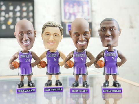 SAC KINGS PURPLE 2003 BOBBLE HEAD SET - Sz O/S