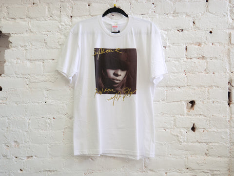 "SUPREME MARY J. BLIGE TEE ""WHITE "" - Sz MEDIUM"