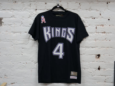 "MITCHELL & NESS SACRAMENTO KINGS RETRO TEE (CHRIS WEBBER AWAY/BLACK)"" - Sz MEDIUM"