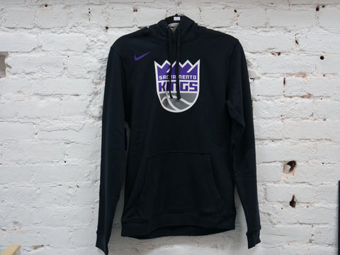 "NIKE SACRAMENTO KINGS LOGO HOODED SWEATSHIRT ""BLACK"" - Sz SMALL"