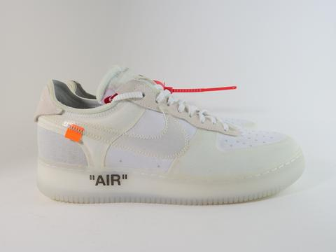 "THE 10: NIKE AIR FORCE 1 LOW ""OFF WHITE"" - Sz 10"