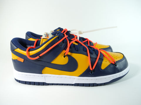 Nike Dunk Low Off-White University Gold MidnighT Navy - Sz 11