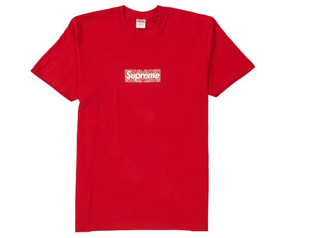 "SUPREME BANDANA BOX LOGO T-SHIRT ""RED"" - Sz MEDIUM"