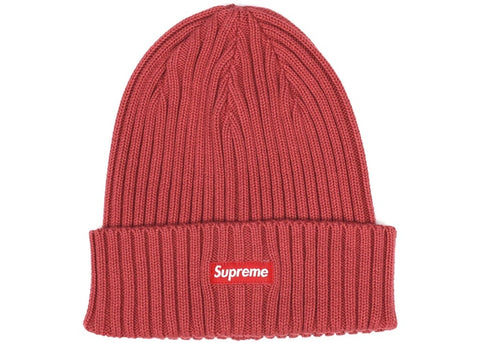 "SUPREME OVER DYED RIBBED BEANIE ""RED"" - Sz O/S"