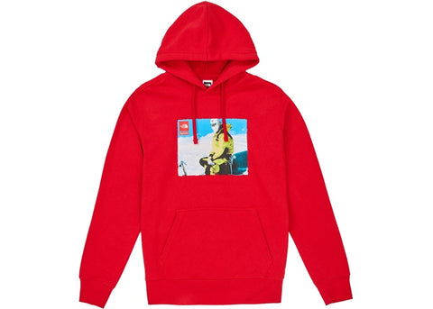 SUPREME TNF RED HOODIE - Sz LARGE