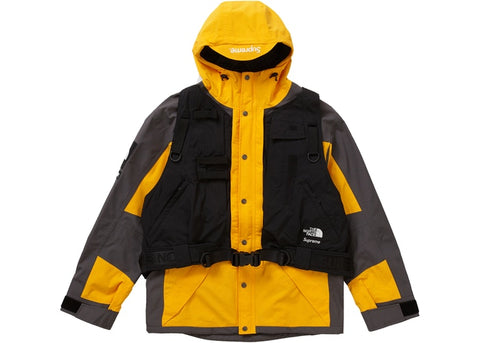 "SUPREME TNF RTG JKT/ VEST ""SUMMIT GOLD"" - Sz LARGE"