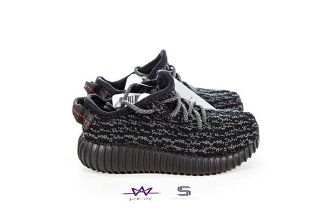 "YEEZY BOOST 350 INFANT ""PIRATE BLACK"" - Sz 8k"