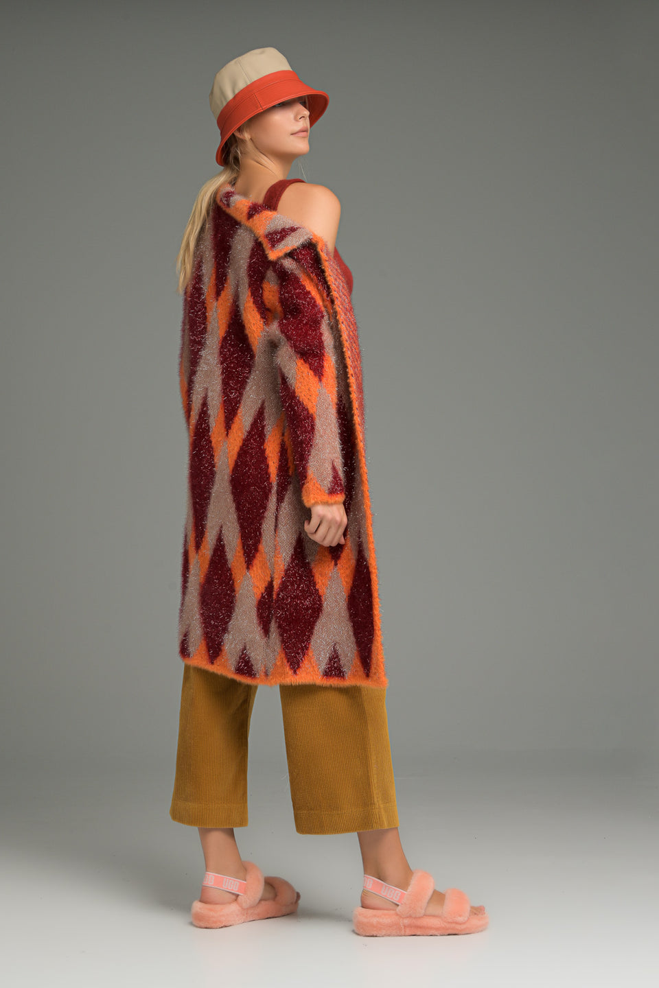 WOOL LUREX JACKET ORANGE