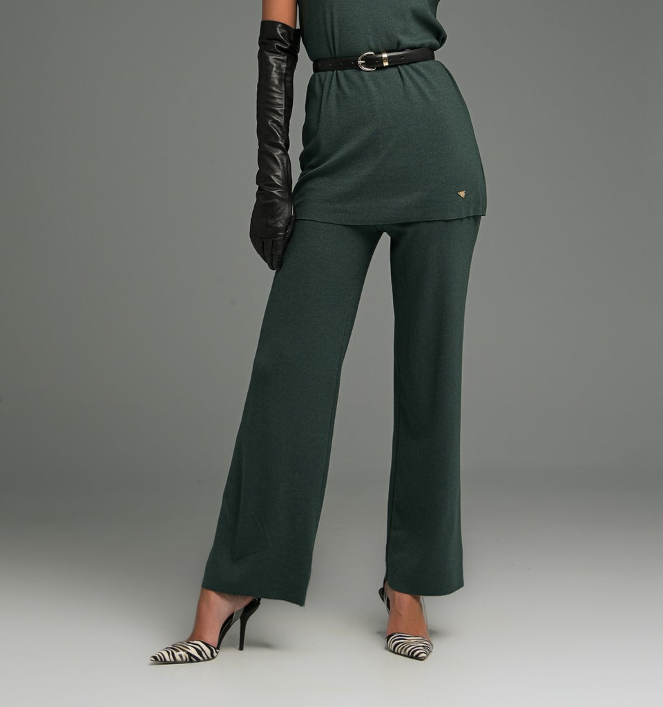 STRAIGHT LINE ORGANIC COTTON TROUSERS WITH DRAWSTRING WAIST STRAIGHT LINE ORGANIC COTTON TROUSERS WITH DRAWSTRING WAIST