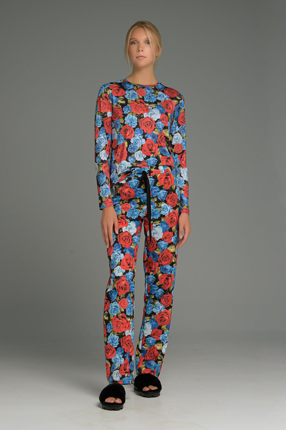 STRAIGHT LEG TROUSERS IN FLORAL PRINT