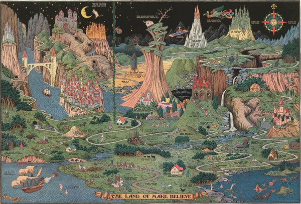 Land of Make Believe - A great map for kids