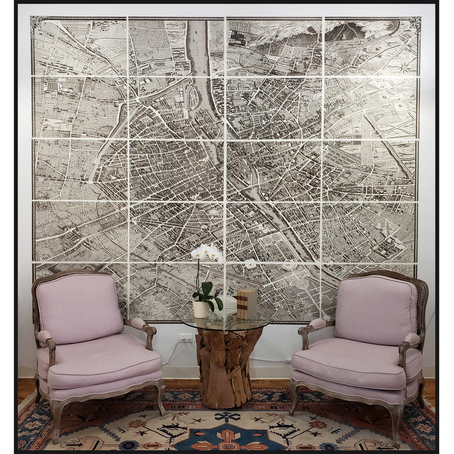 Turgot Map of Paris | Vintage Wall Mural