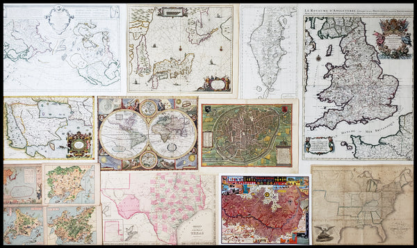 Variety of Maps Sold at New World Cartographic