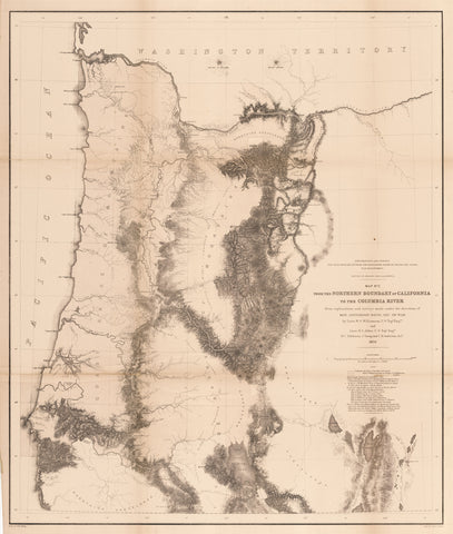 1855 Map No. 2 From the Northern Boundary of California to the Columbia River...