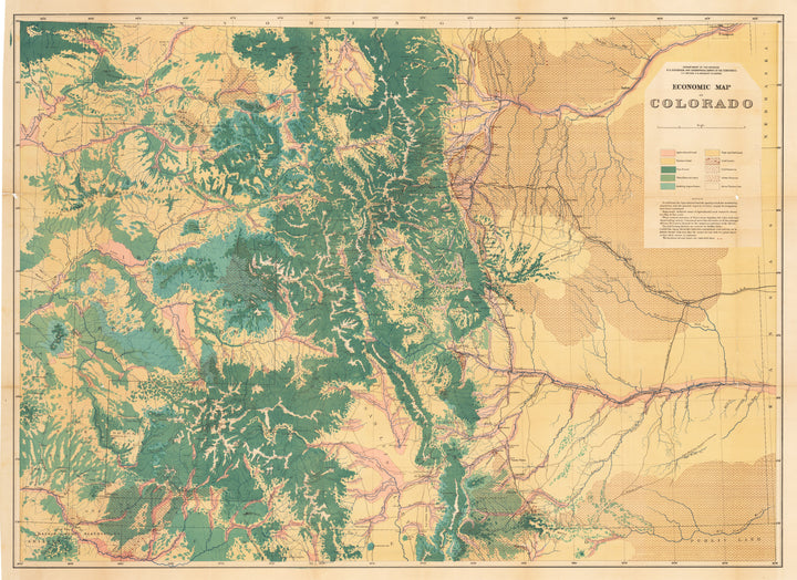 New World Cartographic : Economic Map of Colorado By: Hayden / Department of Interior Date: 1878