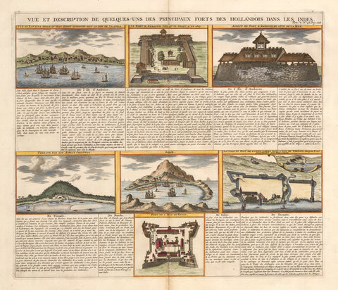 1719 View and Description of the Principal Dutch Forts in the East Indies