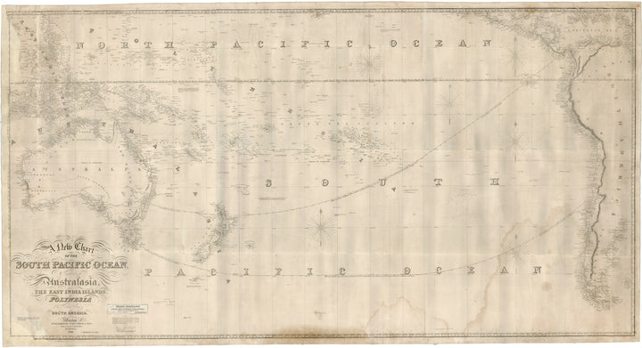 A New Chart of the South Pacific Ocean Including Australia, the East India Islands… By: James Imray Date: 1860