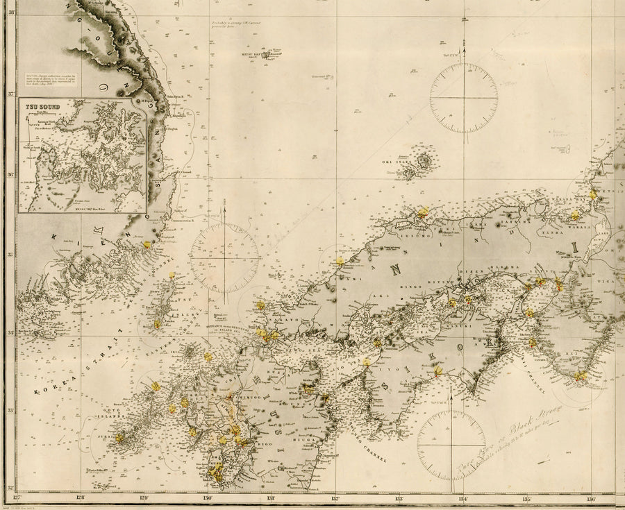 1886 Japan Islands [Eastern Passage to China and Japan]
