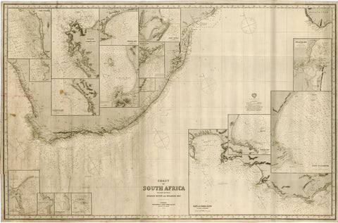1895 Coast of South Africa Included Between Orange River and Delagoa Bay