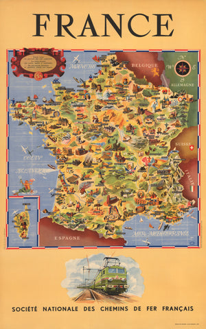 1951 France : Societe Nationale des Chemins de fer Francais