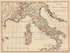 Old Map of Italy - Tabula Italiae Antiquae In Provincias et Populos Divisa... Blair, 1779