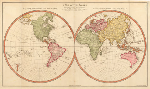 1779 A Map of the World with the Lastest Discoveries...