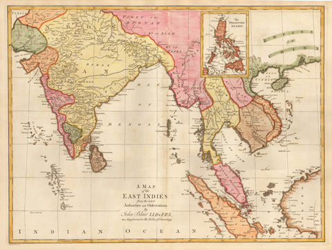 1779 A Map of the East Indies from the latest Authorities and Observations….